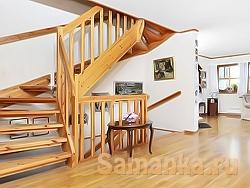 Тетива - это несущий элемент лестницы, наклонная балка, удерживающая специальными пазами ступени