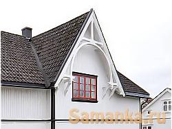 Щипец – треугольная, верхняя часть стены здания, образованная и ограничиваемая двумя крутыми скатами крыши