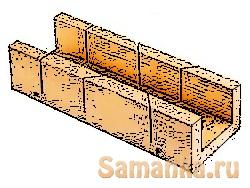 Стусло – столярное приспособление, угловой шаблон, предназначенный для распиливания пиломатериалов без разметки под определяемым им углом