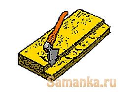 Четверть – прямоугольная выемка, выбираемая вдоль бокового ребра, канта бруса, доски, пластины