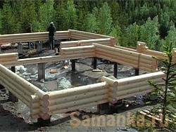 Сруб – строение, изготавливаемое и собираемое из специально подготовленного бревна