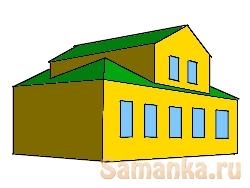 Мезонин – надстройка в средней части каменного или деревянного дома