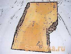 Необрезной пиломатериал – группа пиломатериалов с оставшейся необработанной, естественной кромкой