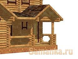 Помимо удобства прохода в дом, крыльцо позволяет защитить входную дверь от атмосферных осадков