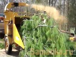 Чиппер предназначен для измельчения растительных остатков