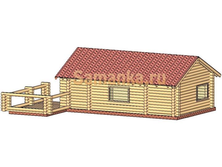 Коробка дачного домика