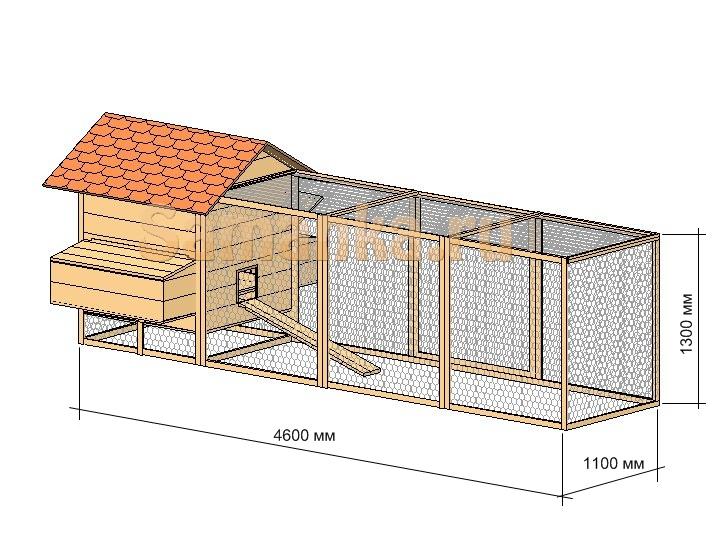 Теплый домик для кур