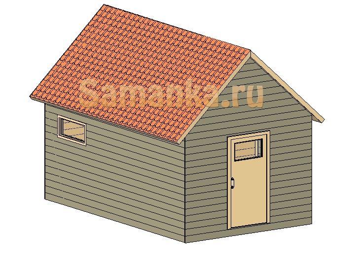 Устройство сарая: помещение для хранения садового инструмента.