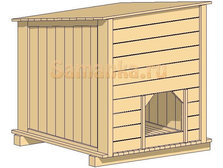 Дачные постройки.  Как сделать будку для собаки.  Главная.