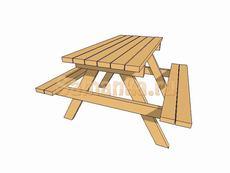 Садовая лавочка - стол